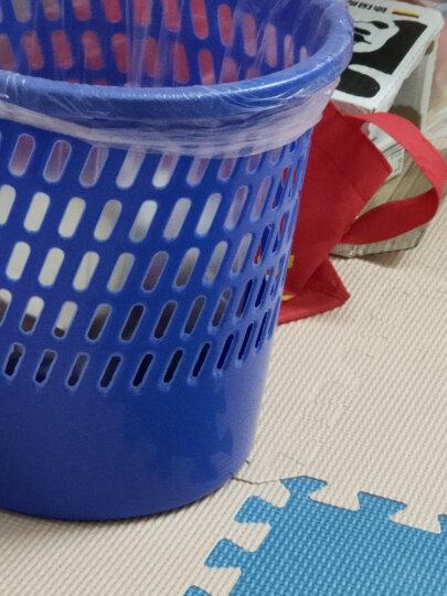 天章办公(TANGO)垃圾桶塑料实色办公纸篓/垃圾篓办公厨房卫生间客厅/255mm直径蓝色/探戈系列办公文具 晒单图