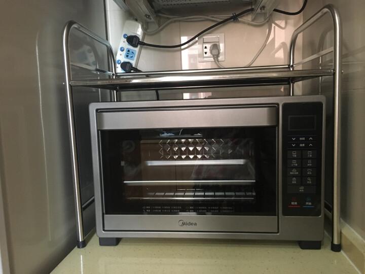四季沐歌(MICOE) 微波炉架子厨房置物架不锈钢落地烤箱架厨房用品调料架收纳架 单层58CM长 晒单图