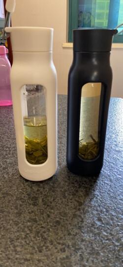 乐扣乐扣(lock&lock)便携塑料水杯耐热玻璃运动型学生杯LLG651S601(350ml+550ml)杯子套装两件(黑色+紫色) 晒单图