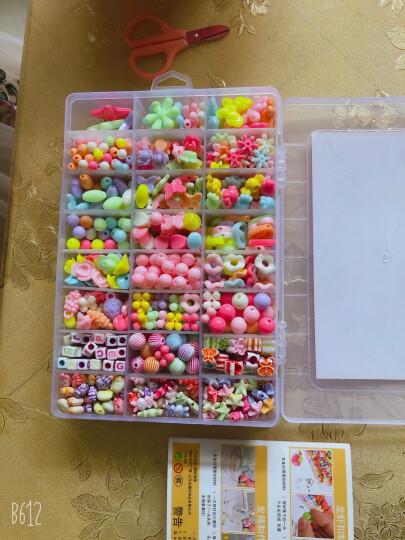 可爱布丁玩具女孩串珠约880粒DIY手工穿珠子儿童过家家亲子互动玩具3-6-8岁生日礼物 大24格春暖花开 晒单图