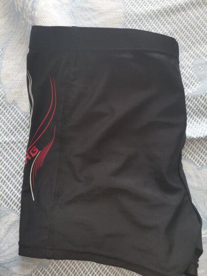李宁 LI-NING 泳裤 弹力舒适平角泳装 速干不贴身男士游泳裤 抗 氯黑LSSL125 XXL 晒单图