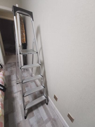 万怡(WRIGHT) 万怡出口梯德国品质折叠家用梯铝合金梯子铝梯三四五六七八步人字航空铝合金梯 5步2591-N(45CM高扶手) 晒单图