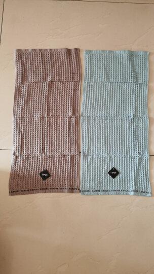 金号毛巾 A类婴幼标准 纯棉毛巾华夫格面巾4条装 73*33cm 经典条纹款灰色四条 晒单图