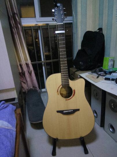 Nightwish 拉维斯 单板民谣吉他面单木吉他41寸吉它初学者乐器 米维斯S 云杉原木色 41寸 晒单图