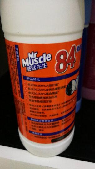 威猛先生 84 消毒液 清新花香 500g 除菌液 消毒水 漂白水 马桶消毒(新老包装随机发货) 晒单图