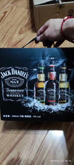 杰克丹尼(Jack Daniel`s)洋酒 威士忌 可乐味 预调酒鸡尾酒 330ml*6瓶 礼盒装 晒单图