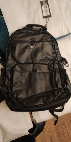 七匹狼(SEPTWOLVES)双肩包男士旅行多功能背包商务出差大容量轻便简约行旅包书包 标准版亮面 晒单图