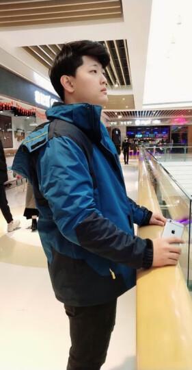 圣亚希(SHENGYAXI) 冲锋衣男女新款情侣可拆卸三合一登山服套装防风保暖大码两件套 1201B-男牛仔蓝+黑裤 XL(男-65KG/女-55KG) 晒单图