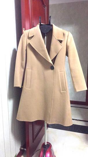 哥弟女装2019秋冬新款翻领一粒扣中长款双面羊毛呢大衣女A400072 驼 L(4码) 晒单图