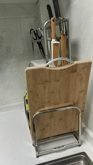 美厨(maxcook)厨房置物架 不锈钢三层刀架砧板架调料瓶架 带挂钩筷子筒 MC3035 晒单图