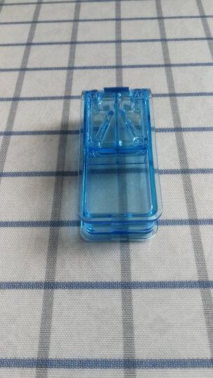 班哲尼 切药器可固定药片分割器药片收纳盒粉碎器 掰药器透明便携迷你塑料分装药盒 蓝色 晒单图