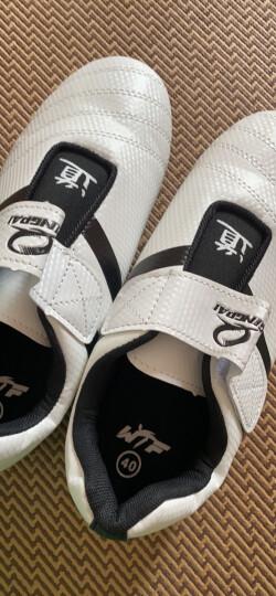 竞派跆拳道鞋成人儿童室内训练鞋仿皮跆拳道道鞋男女比赛道鞋41码 晒单图