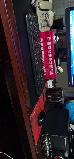 联想  有线USB键盘鼠标套装  一体机台式机笔记本 家用办公U口键鼠套 黑色巧克力键盘+大红点鼠标 晒单图