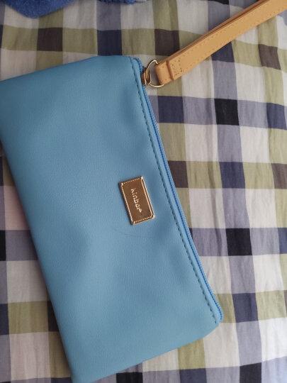 kinbor皮面文具袋铅笔袋/女款化妆包手拿收纳包 蓝莓慕斯DTB6226 晒单图