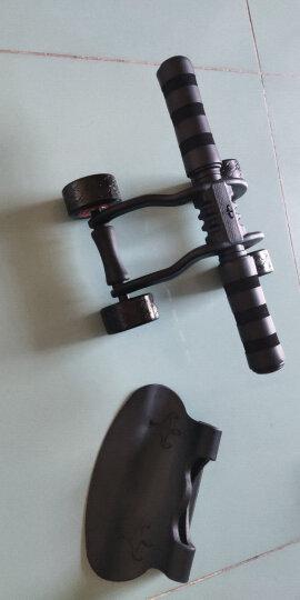 凯速KANSOON家用静音轴承四轮健腹轮健腹器腹肌轮(含地垫、刹车片)俯卧撑支架两件套黑色 晒单图