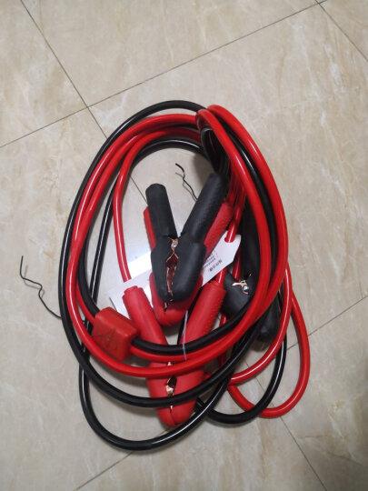 沿途 汽车电瓶搭火线 3米 带电压过载保护器+提示灯 应急启动电源搭电线鳄鱼夹子蓄电池连接打火线过江龙 N05 晒单图