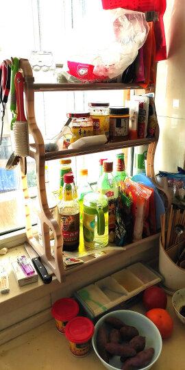 邻美 厨房置物架收纳架 塑料不锈钢管调料架调味架厨房用品厨具 30长+砧板架 晒单图