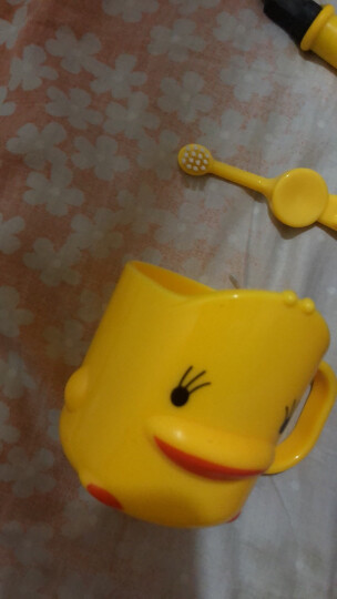 好孩子(gb)儿童牙刷婴儿宝宝牙刷1岁2岁儿童牙膏可吞咽婴幼儿指套牙刷新生儿护齿啫喱 硅胶牙刷(1岁以上) 晒单图