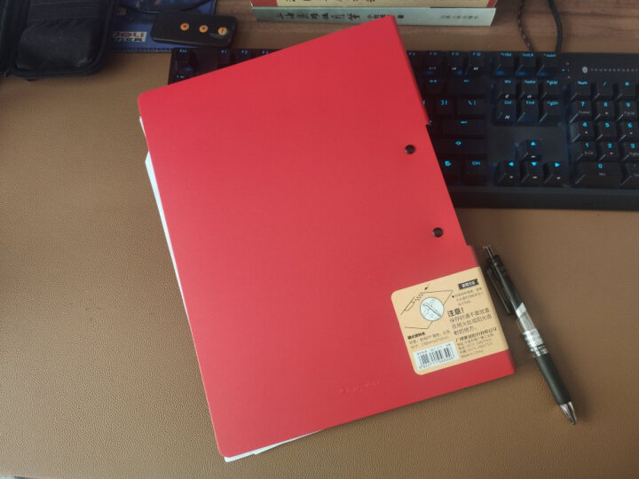 飞兹(fizz)文件夹A4板夹横式加厚款/彩色档案夹/办公用品 白色A6380 晒单图