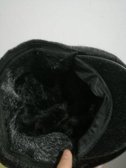 安振毅 中老年帽子男冬季加绒加厚保暖护耳老人帽子爸爸爷爷老头帽棉鸭舌帽 加绒加厚【内含护耳】灰色 均码(57-59码) 晒单图