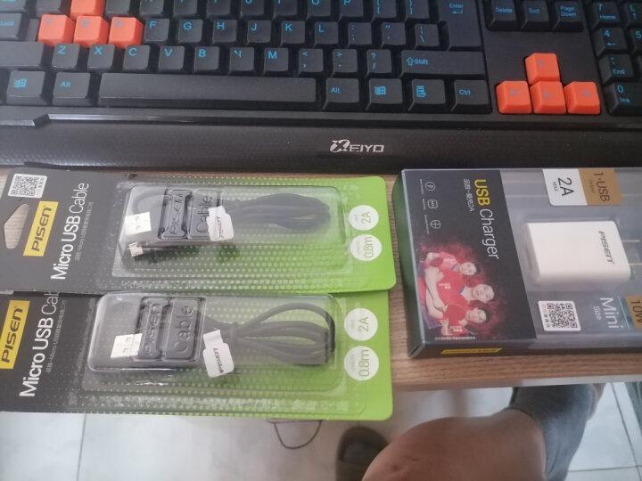 品胜(PISEN)安卓数据线 0.8米  Micro USB手机充电线 适用于华为/小米/vivo//oppo/荣耀/红米/魅族 黑色 晒单图