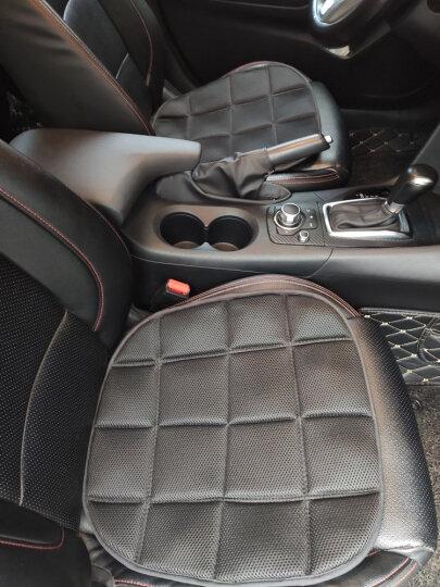 卡饰社(CarSetCity)汽车坐垫 三件套竹炭座垫 汽车用品 四季通用座垫 通用型 灰色 晒单图
