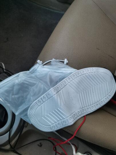 捷昇(JIESHENG) 雨靴雨鞋 男女通用防水防滑雨鞋套加厚底pvc透明雨靴 XL码 晒单图