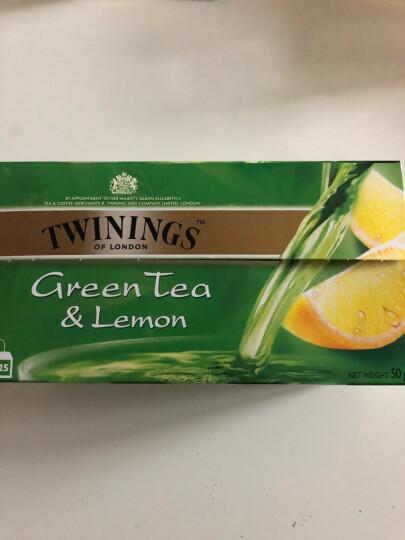 英国川宁(TWININGS) 茶叶 绿茶 柠檬绿茶2g*25包 袋泡茶茶包 休闲下午茶 可搭配蜂蜜 牛奶 晒单图
