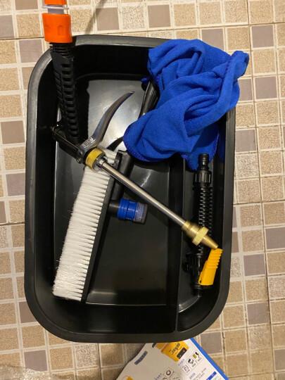 普兰迪车载洗车器家用高压洗车水枪 便携式洗车机刷车水泵清洗机 双层25L标配+移动电源 晒单图