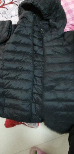坦博尔2020新款女士羽绒服女轻薄羽绒服短款秋冬新款修身时尚休闲纯色百搭连帽女士羽绒衣TD3338 兰姆米 165/88A(尺码偏小) 晒单图