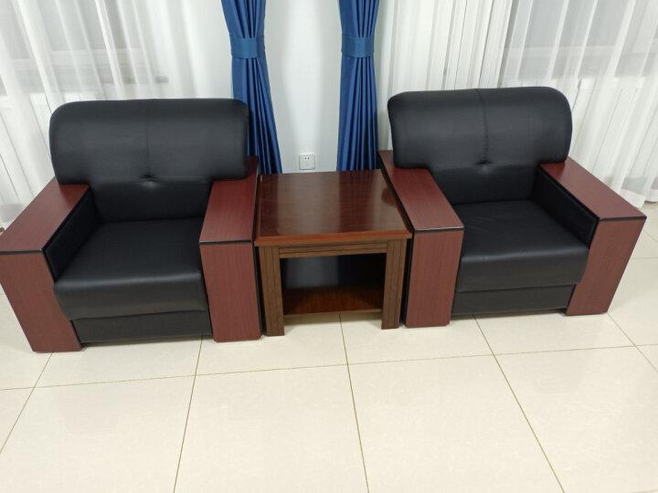 中伟办公沙发会客沙发接待沙发时尚简约商务沙发办公沙发组合3+1+1+大茶几 ZW-928 晒单图