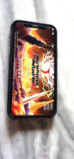 ESCASE 苹果iPhoneX手机壳手机套 5.8英寸混纺毛绒精纺布艺全包防摔保护壳 合金按键 ES01商务版典雅红 晒单图
