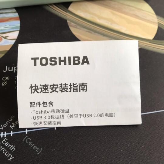 东芝(TOSHIBA) 1TB USB3.0 移动硬盘 新小黑A3 2.5英寸 兼容Mac 轻薄便携 稳定耐用 高速传输 爆款 商务黑 晒单图
