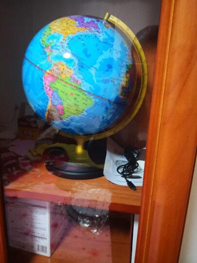 得力(deli)Φ25cm木座金属架发光地球仪 商务礼品居家摆件设 儿童礼物 3037 晒单图