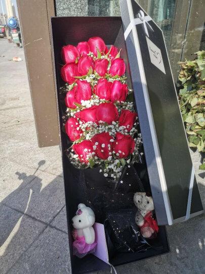 维纳斯七夕鲜花速递同城玫瑰花19朵红玫瑰礼盒香槟百合康乃馨礼物花束北京上海广州深圳全国花店配送送花 初恋-19朵粉玫瑰花束 晒单图