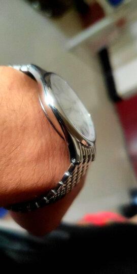 罗西尼(ROSSINI) 手表 启迪系列简约石英男表双日历罗马时符白盘钢带6355W01G 晒单图