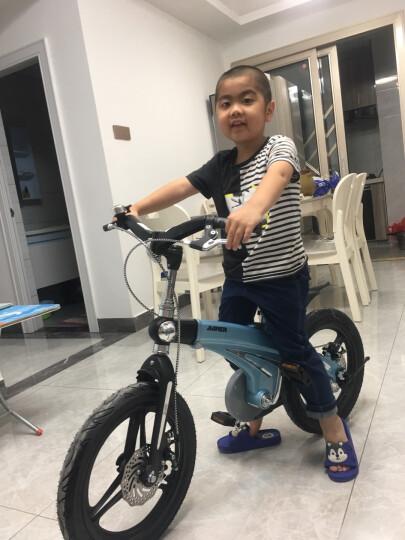 【可加长】健儿(jianer)儿童自行车男女小孩单车12/14/16寸 概念豪华款-圣湖蓝(折叠车把双碟刹) 16寸 晒单图