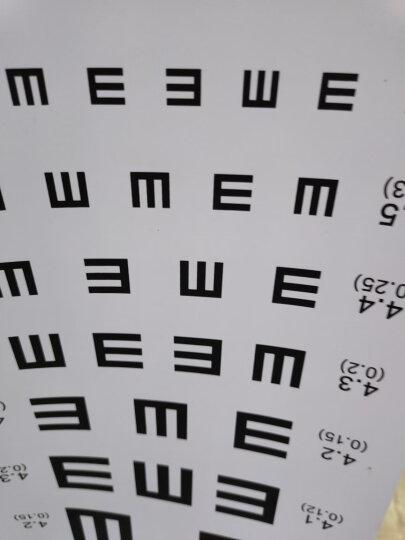 骏航 视力表挂图标准医用儿童家用墙贴视力测视表成人防撕近视测试图 新版E 晒单图