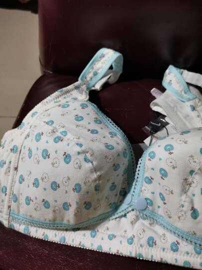 Temami哺乳文胸孕妇文胸内衣胸罩喂奶前开口内衣 波点绿 85C 晒单图