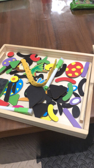 可爱布丁儿童玩具男孩拼图双面磁性奇妙小画板3-6岁女孩子早教玩具节日学生日创意礼物节日送礼物 晒单图