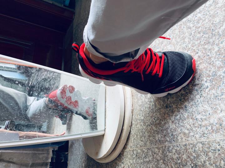 特步男鞋运动鞋男休闲跑步鞋2020秋冬季新款品牌户外皮革面风火旅游板鞋学生健步老爹鞋慢跑鞋子男 新黑红/皮面 41 晒单图