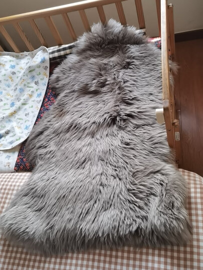 恒源祥 整张羊皮飘窗垫 羊毛P型沙发垫澳洲羊毛床上用品舒适单双人毛毯秋冬保暖羊毛皮毯皮毛一体太师椅垫 象牙白 (定做 3天左右发货) 8P 晒单图