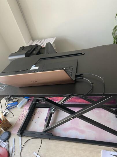 Brateck站立办公升降台式电脑桌 坐站交替写字工作台老板桌子 折叠笔记本学习书桌 家具用显示器支架DWS28-01 晒单图