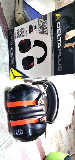 代尔塔 隔音降噪防噪音耳罩 射击睡眠睡觉用耳机 防护静音 工作学习工厂 F1级赛车 黑色 晒单图