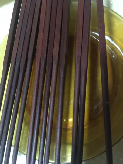 达乐丰 无漆红檀木中华筷 原木筷子礼盒套装20双KZD005 晒单图