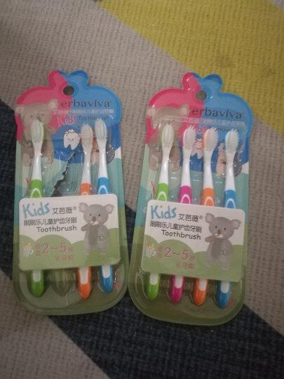 艾芭薇(Erbaviva)儿童牙刷超值4支装 2-3-5岁 婴幼儿宝宝乳牙期 超细软毛牙刷 儿童口腔清洁 护龈防蛀 晒单图