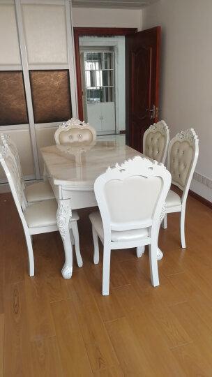 明都 实木餐桌 欧式餐桌椅组合 大理石折叠餐桌 长方形可变圆形小户型伸缩餐桌吃饭桌子 备注--默认发货古青玉台面+描金.其它请备注 晒单图