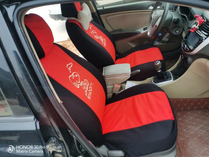 正百汽车座套布艺全包围大众新款老捷达座套新桑塔纳坐垫老普桑POLO全新宝来坐垫 黑红色适用于 老普桑专用版比亚迪f0专用版 晒单图