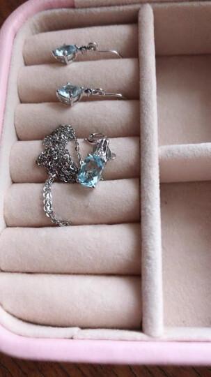 ENZO珠宝 经典彩宝系列 18K金海蓝宝石吊坠(不含链)彩色宝石镶钻石吊坠女 吊坠(不含链) 晒单图