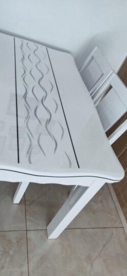 【5折限时抢】古宜(Guyi)小户型长方形现代简约时尚餐桌椅组合白色烤漆餐厅大理石实木餐桌子饭桌 1.2*0.7米一桌4椅(流水线条椅) 晒单图